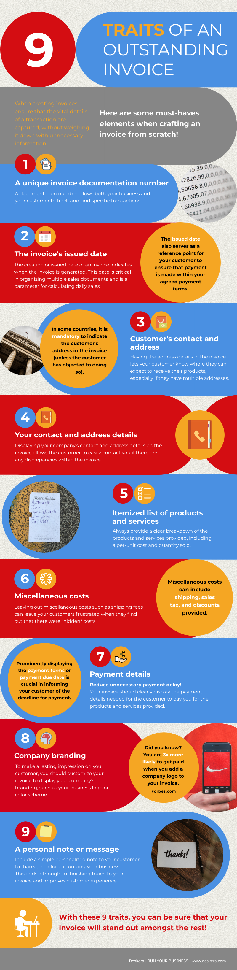 Infographic for 9 Traits of an outstanding invoice