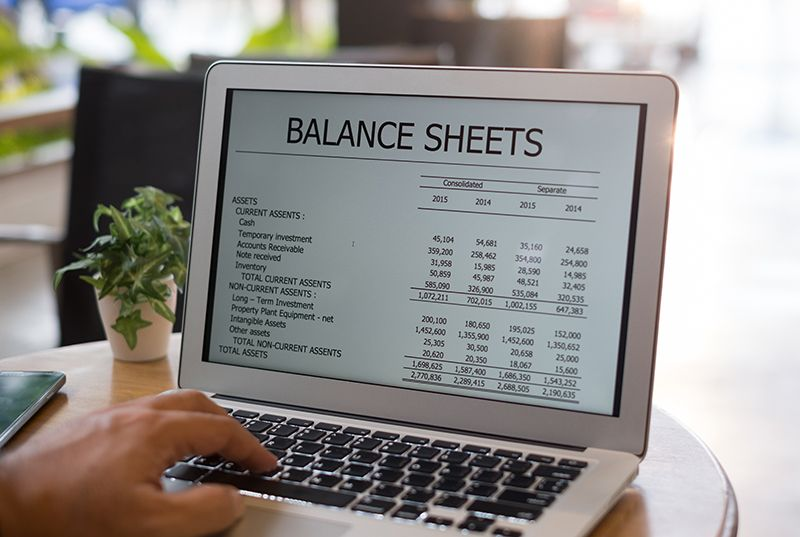 Accounting-software-online-balance-sheet-report