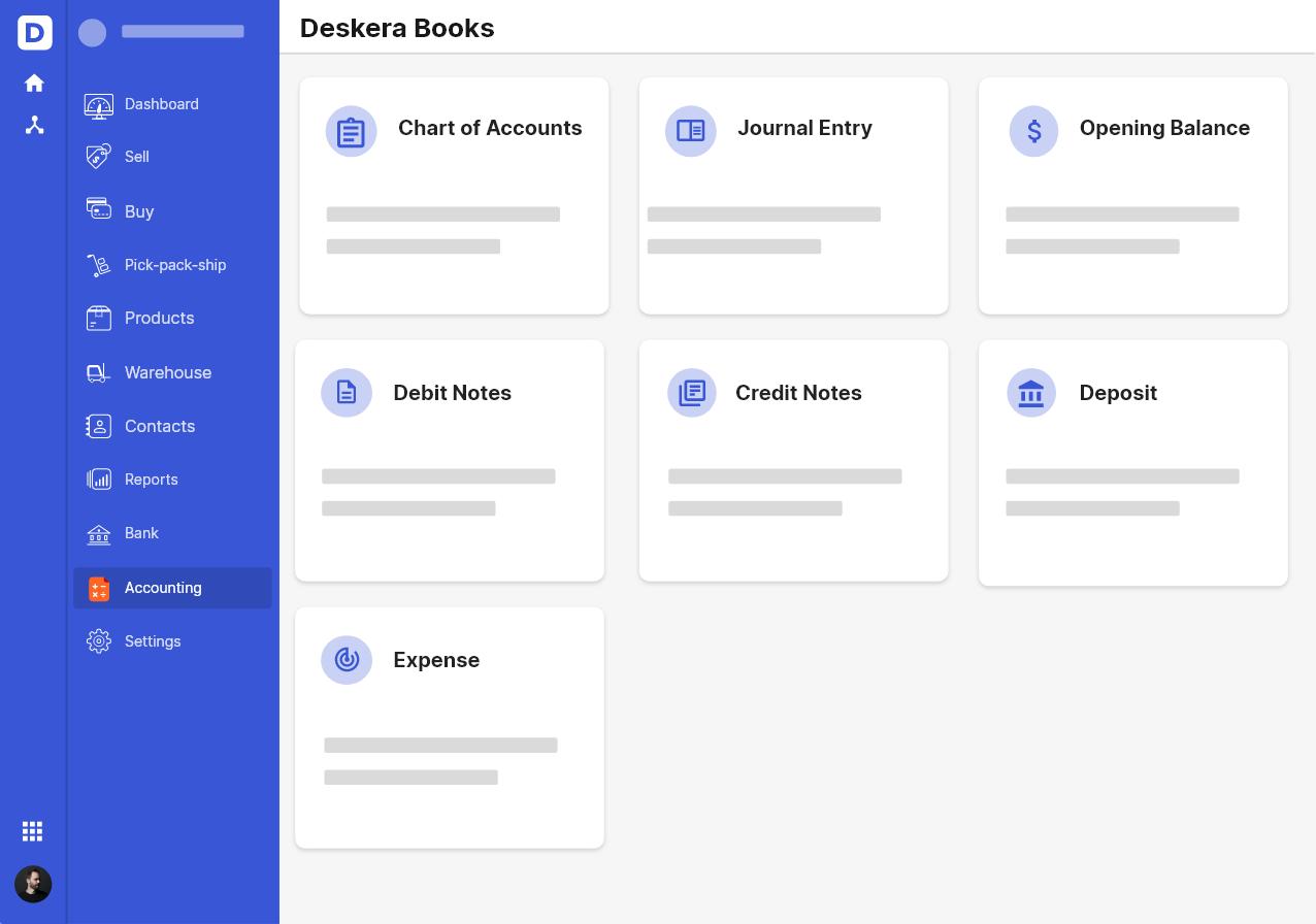 Deskera Accounting Software Template Design