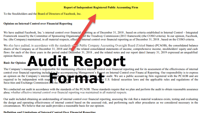 Example of an Audit Report