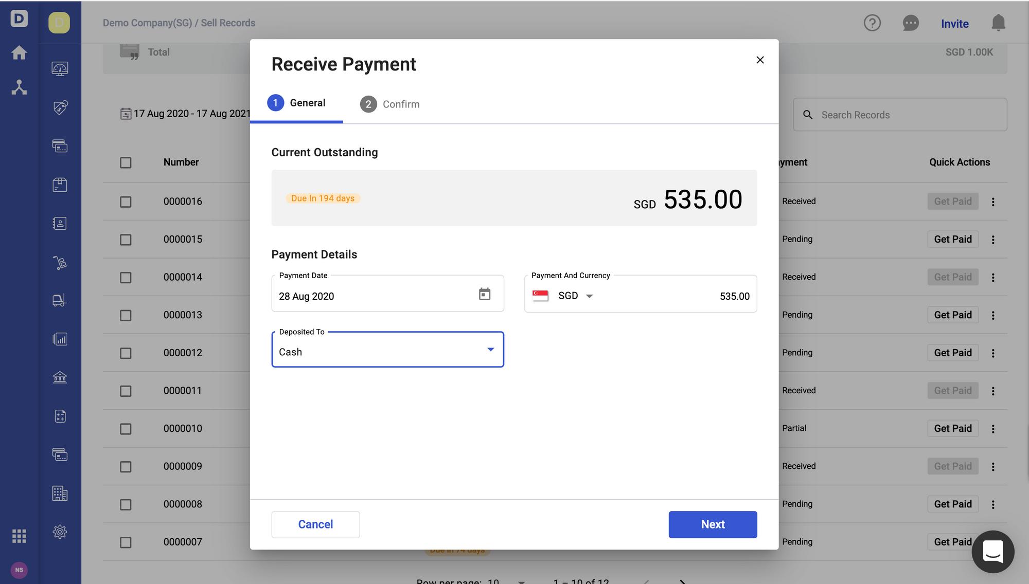 Deskera Books- Receive Payment