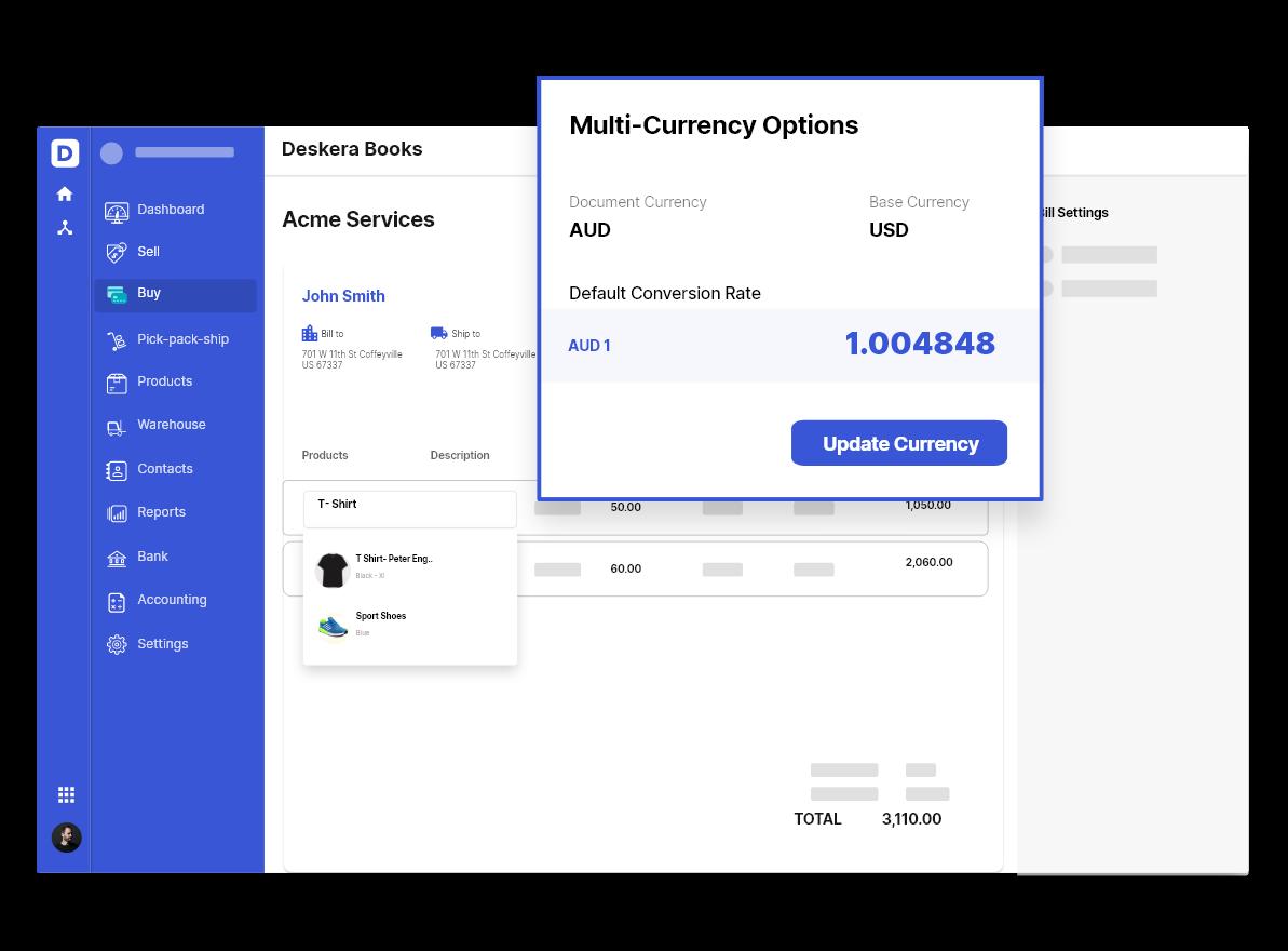 Deskera Multi-Currency Support