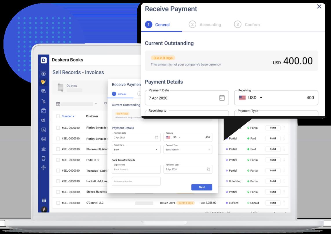 Deskera Invoice payment details