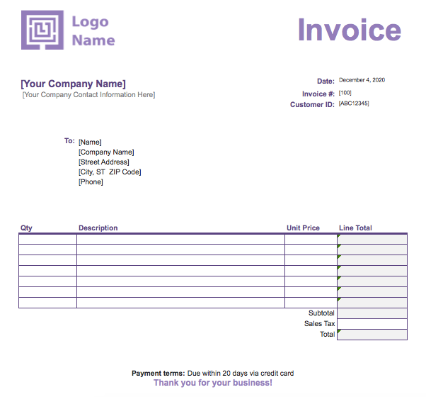 How To Create An Invoice In Excel Full Guide With Examples