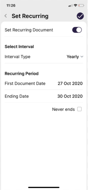 Recurring Invoices in Deskera App
