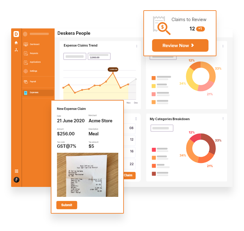 Store Paper Receipts with Deskera Expense