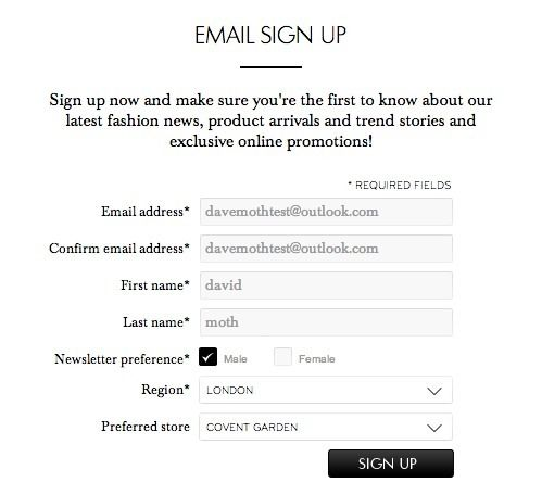 Email Marketing Funnel uses Lead forms