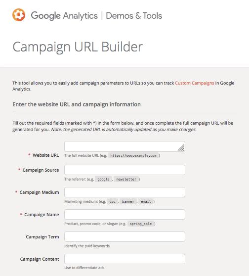 Google Analytics UTM Builder