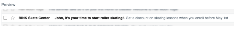 Subject Line in Email