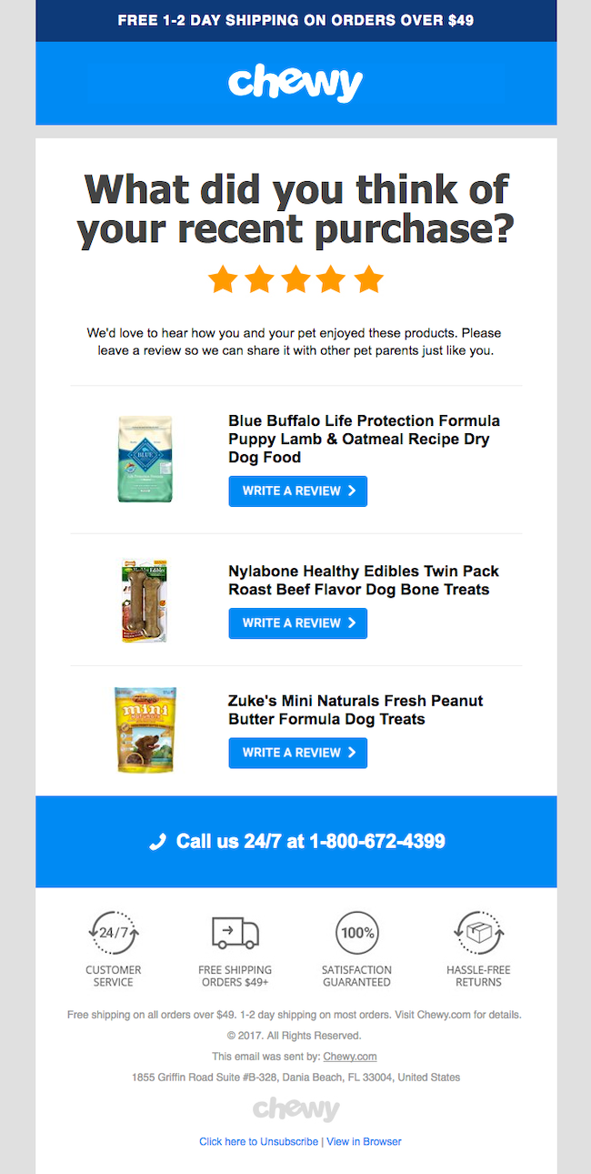 Review Request Emails Marketing Templates