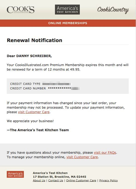Subscription emails