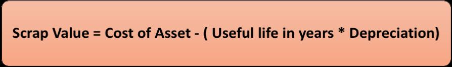 Formula for Scrap Value