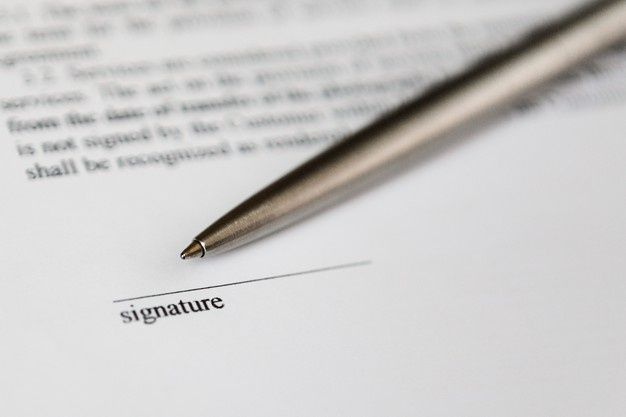 Include a Space for Signatures to Document Agreement