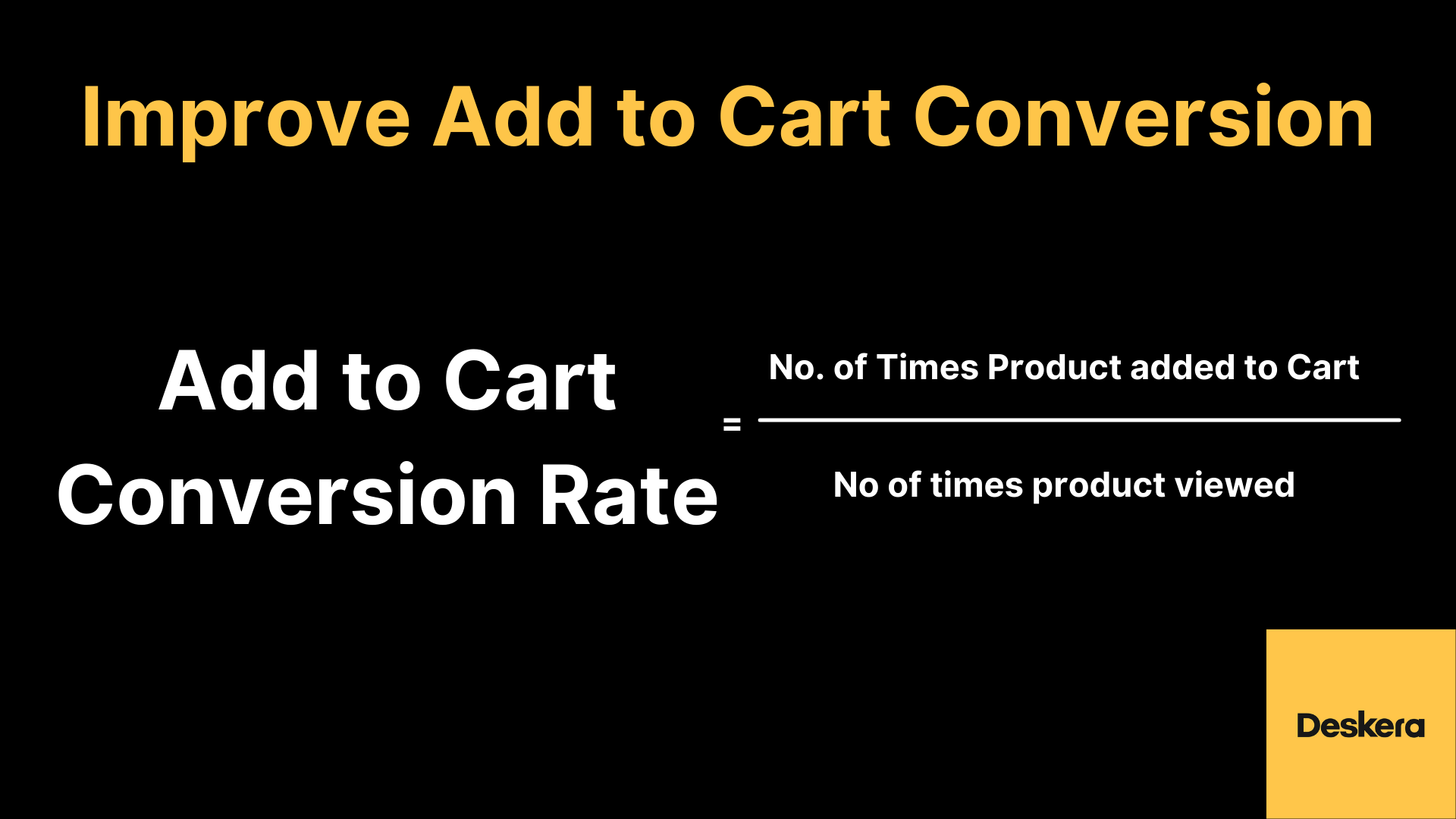 Improve Add to Cart Conversion to Improve Sales of Your eCommerce Business