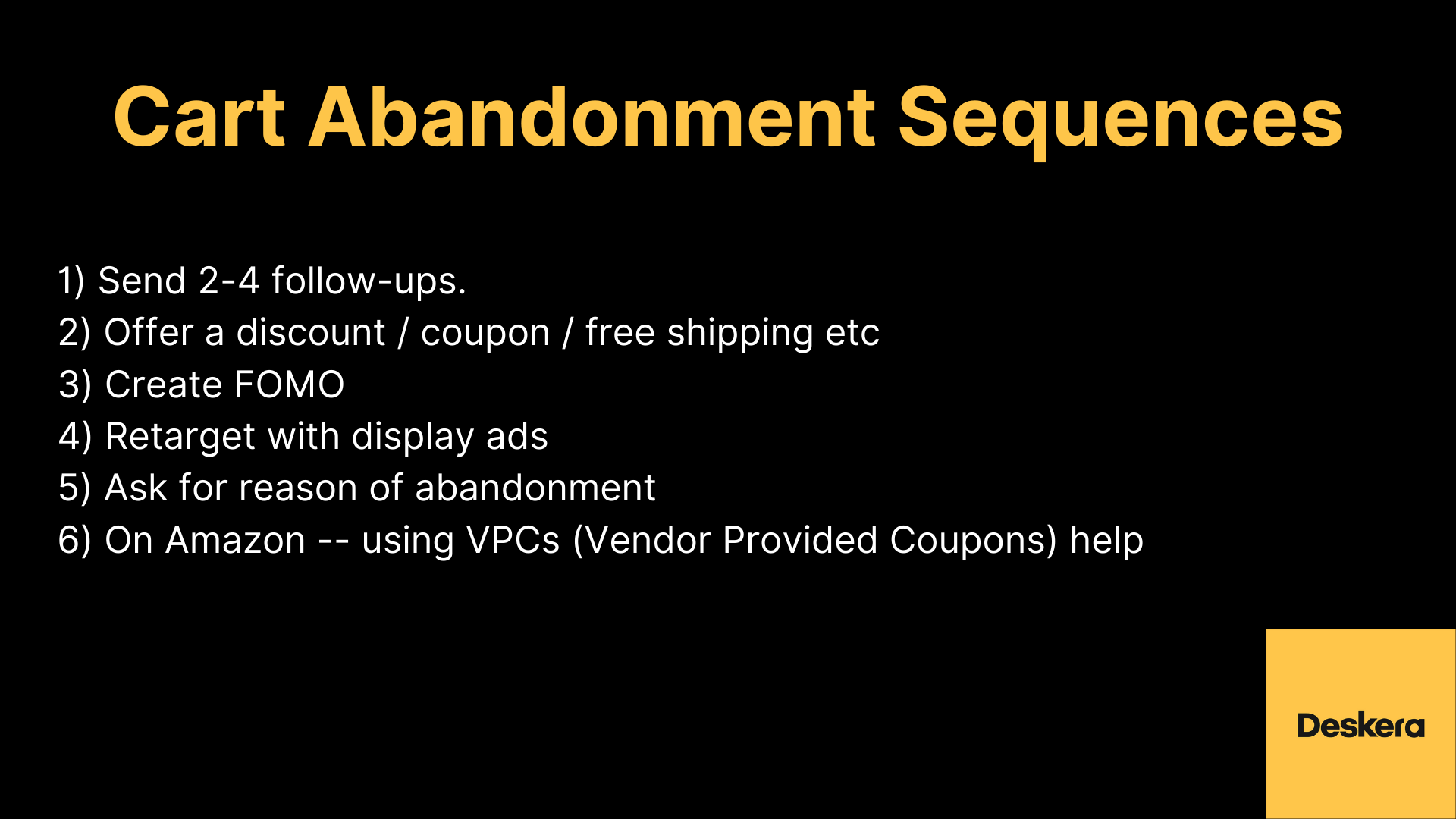 Cart Abandonment Sequences Your eCommerce Business should Follow to Improve its Sales