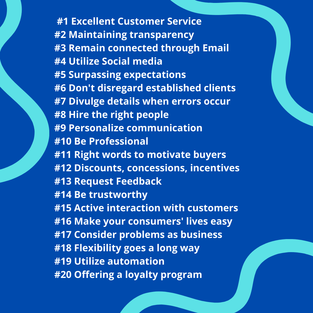 20 Ways to Gain Customer Loyalty