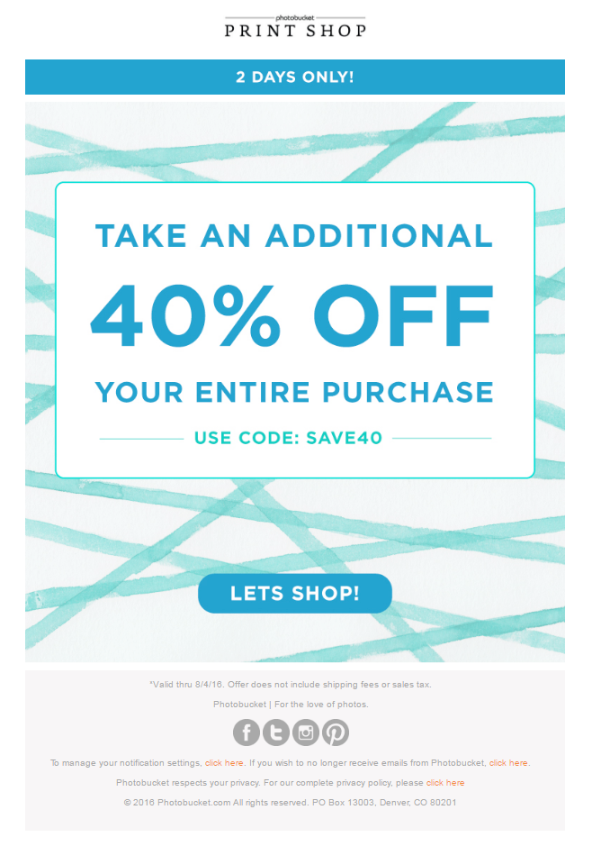 Discount emails