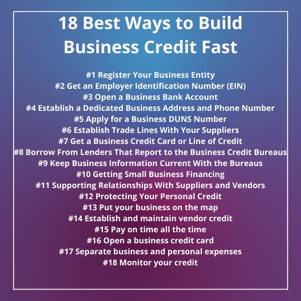 18 WaysBuild Business credit faster