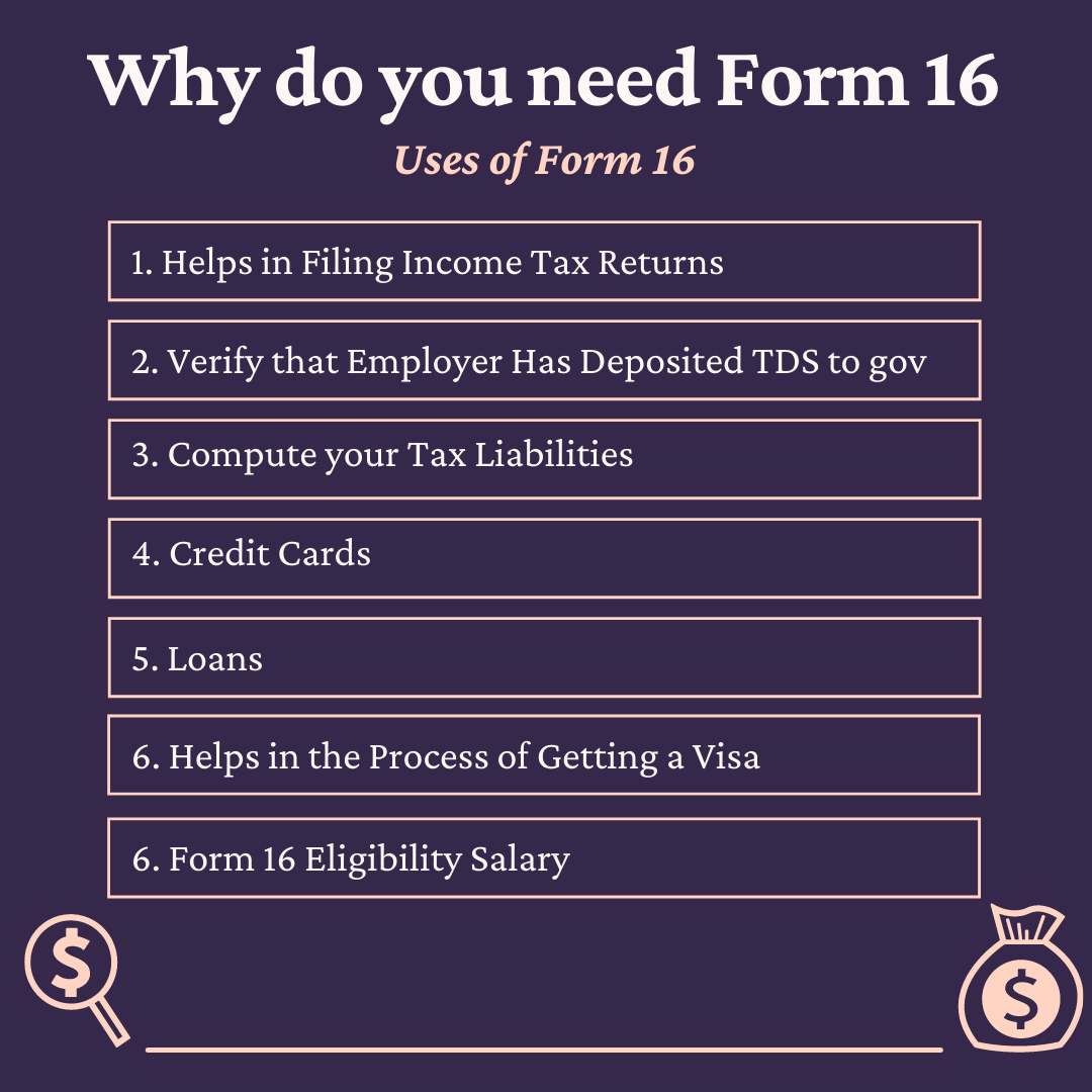 Uses of Form 16