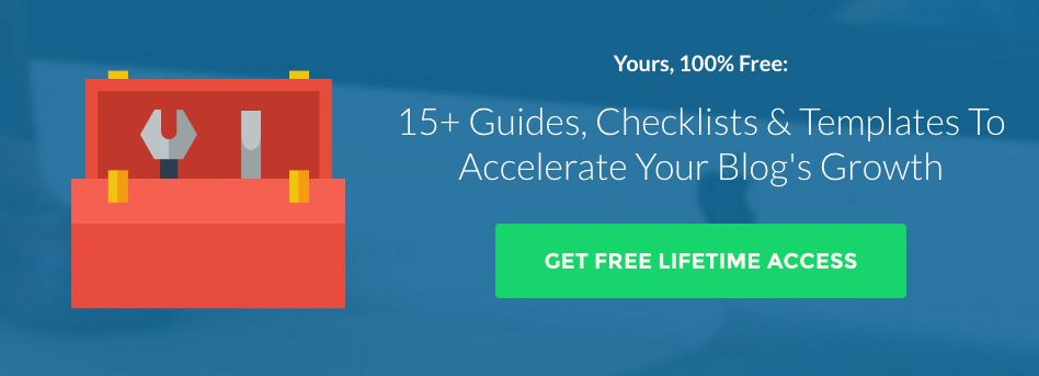 Blog Growth Newsletter CTA Example