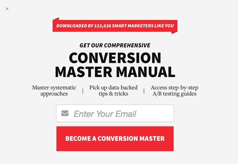 ConversionXL Newsletter CTA Example