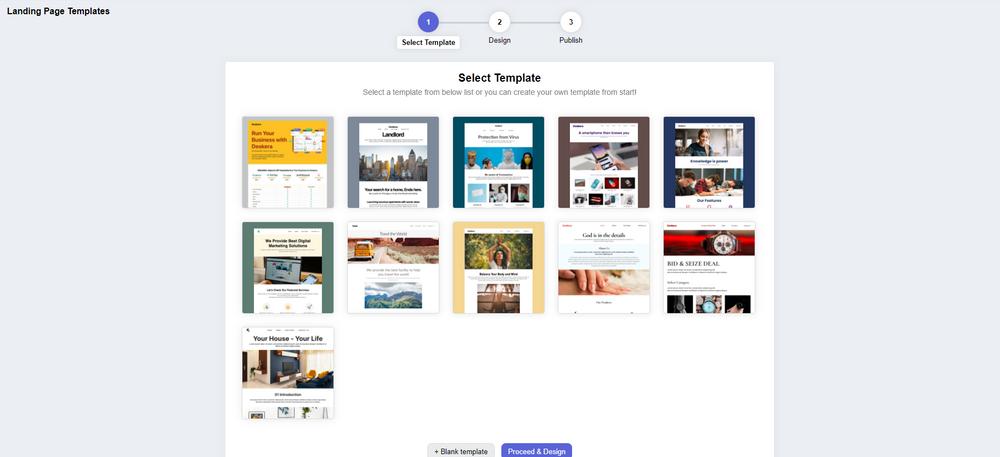 Deskera CRM+ Landing Page Template Designing