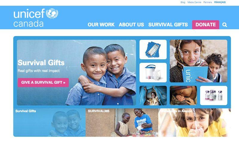 Unicef Charity CTA Example