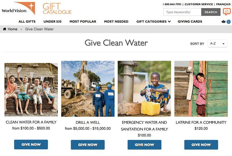 World Vision Charity CTA Example