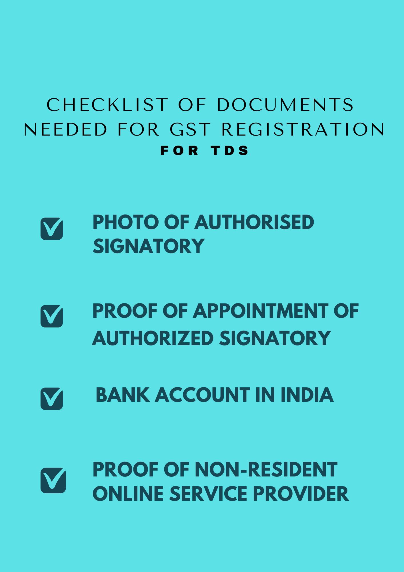 GST registration for TDS