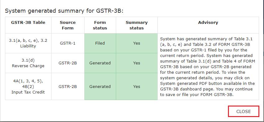 Filing Non-Nil return of GSTR-3B