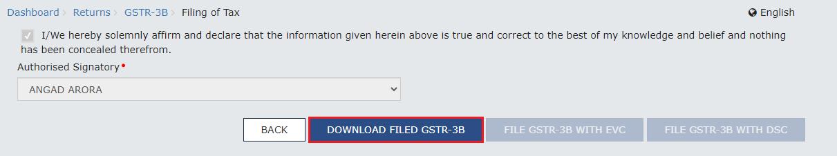 Downloading filed GSTR-3B