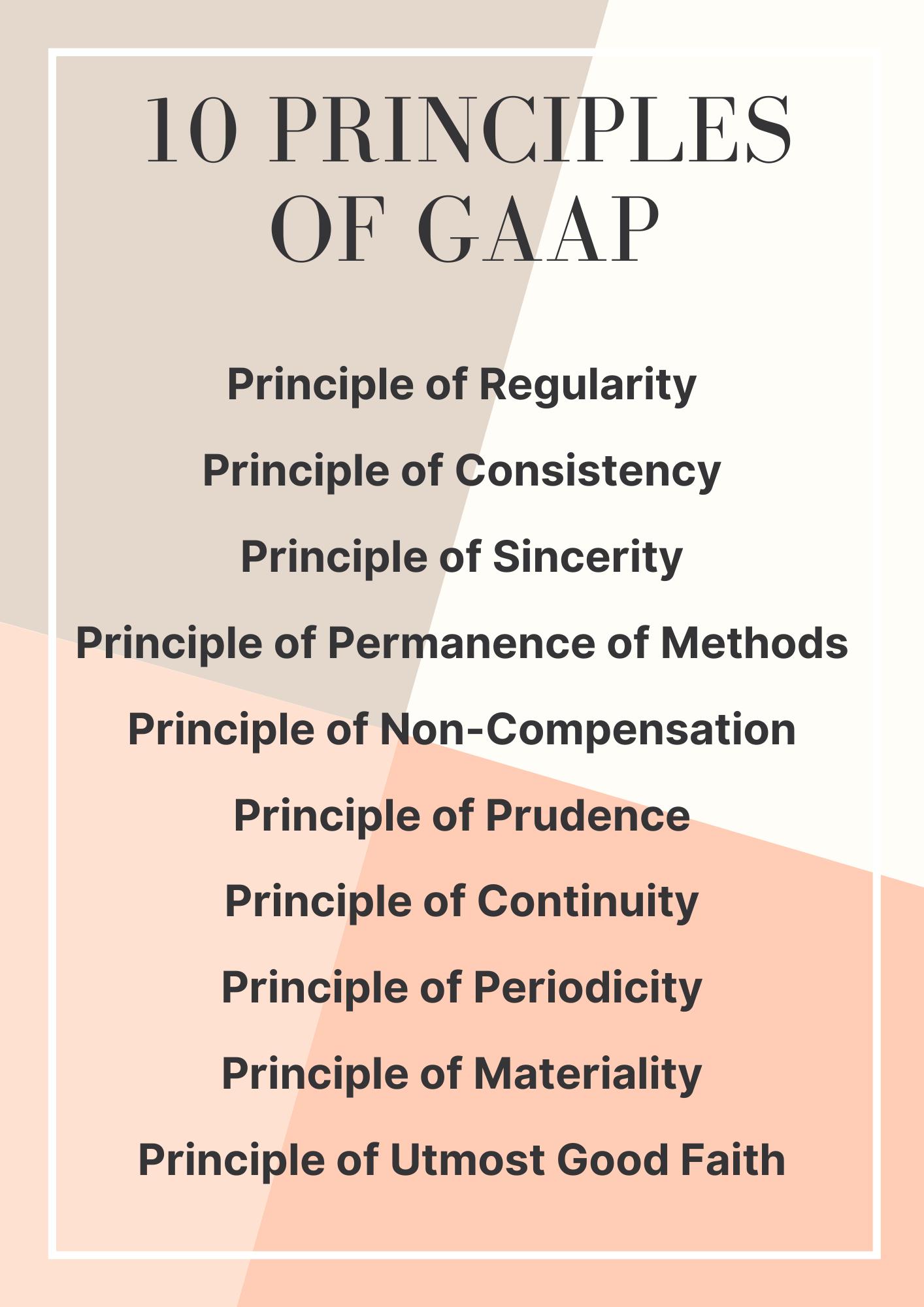 10 Principles of GAAP