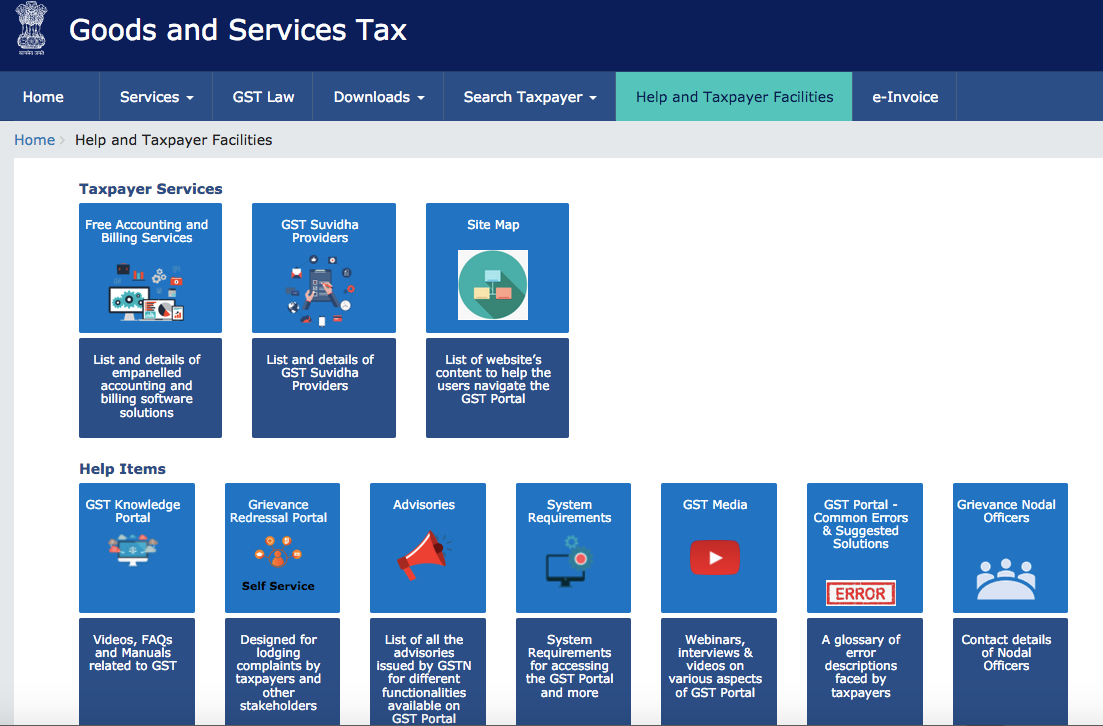 GST Government Page India - 1