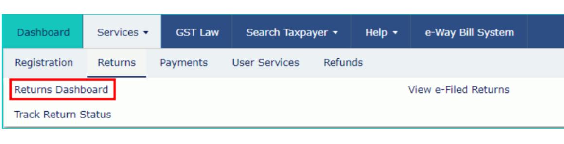 "Step 3: Access the ""returns dashboard"""