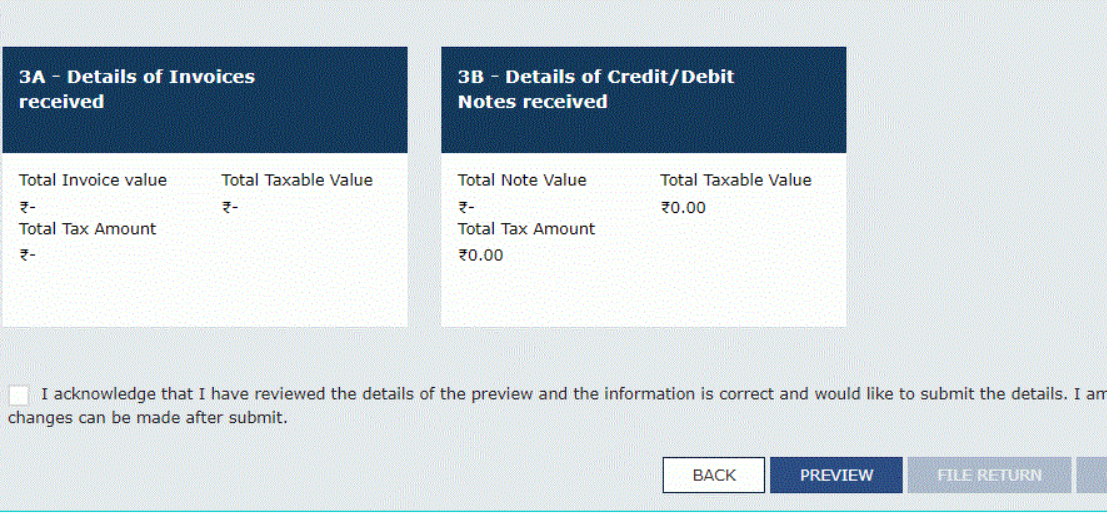 Step 10: Enter the details of invoices and credit/debit notes received