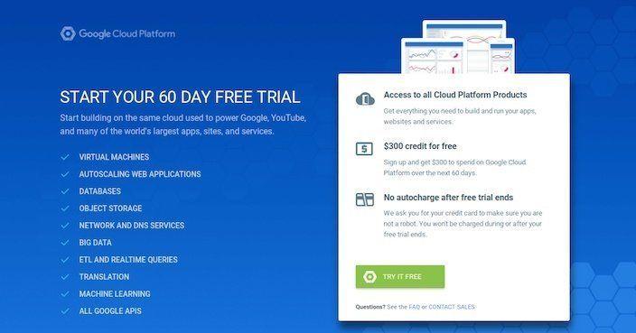 Click-Through Landing Page Example 1: Google Cloud Platform