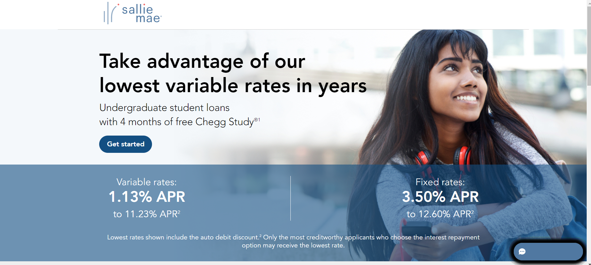 Click-Through Landing Page Example 7: Sallie Mae (Part 1)