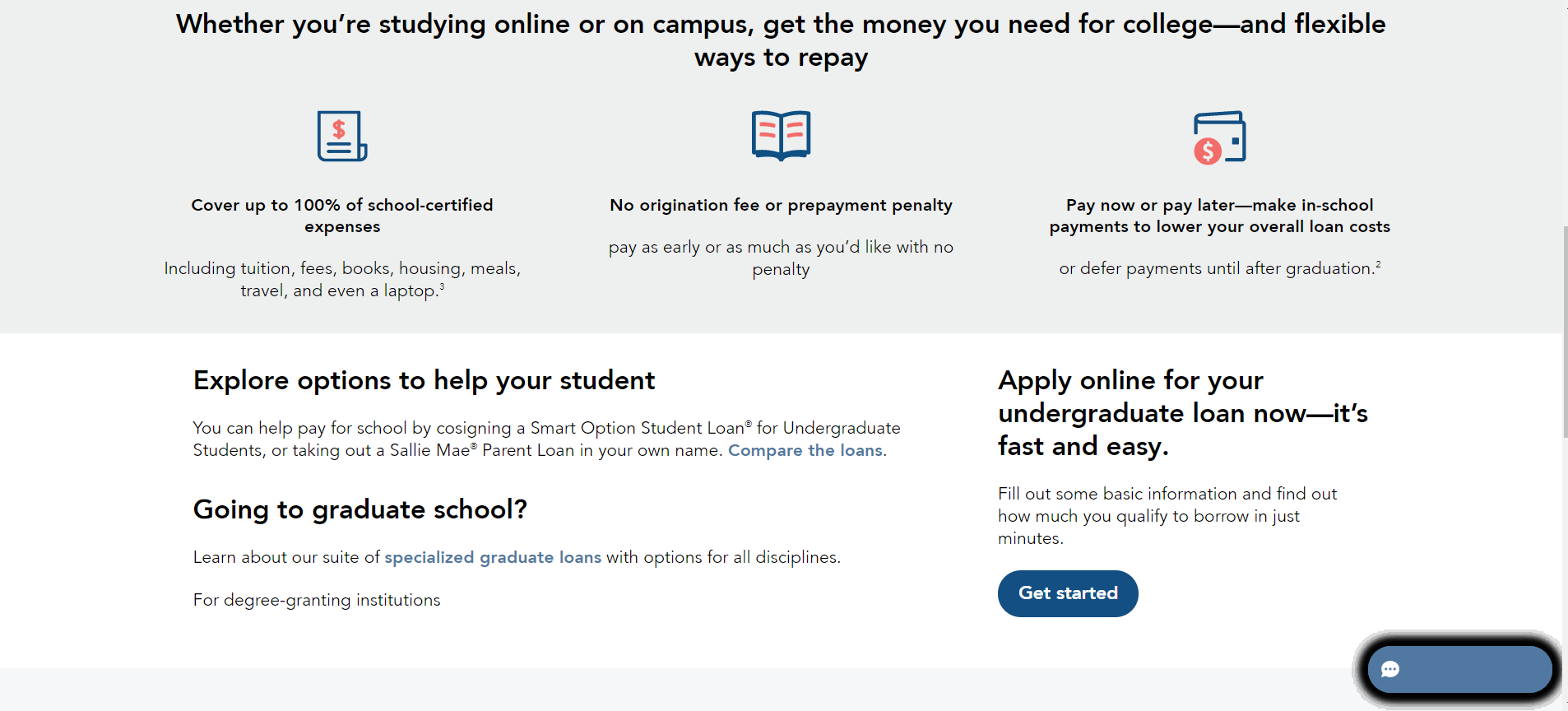 Click-Through Landing Page Example 7: Sallie Mae (Part 2)