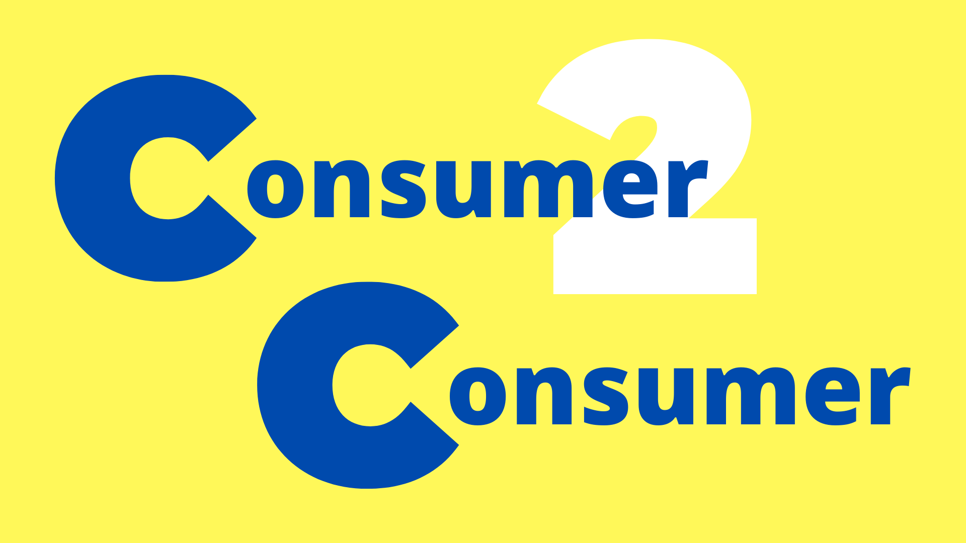 eCommerce consumer to consumer