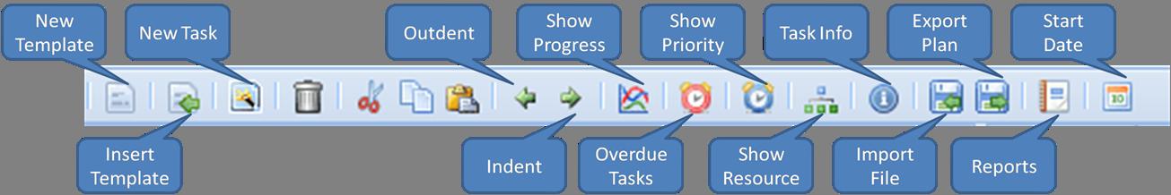 Project Plan Toolbar