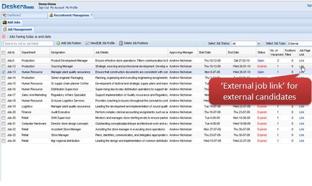 External Job Link