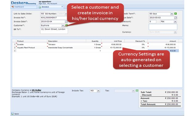 Currency Settings are auto-generated for the selected=