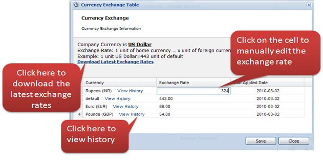 Maintain Currency Exchange Records