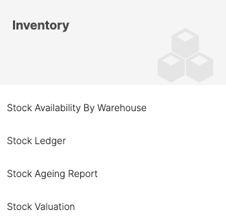 Choose Stock Availability by Warehouse Report