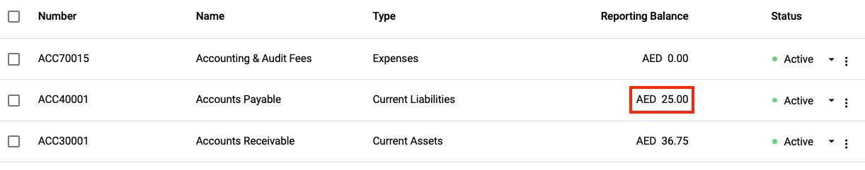 VAT payable account under COA