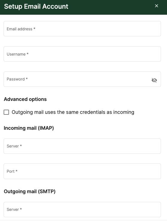 Setup email account